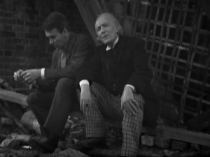 Ian, moaning and despondent as per usual, as the Doctor takes him to task for lacking basic curiosity.