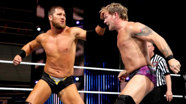 Chris Jericho looks to win his tenth IC title. Curtis Axel wants to make sure that doesn't happen. (Courtesy of WWE)