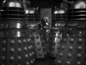 Our first good look at the daleks.