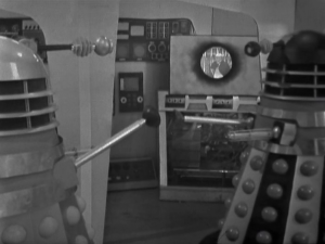 The daleks work out that The Doctor isn't human.
