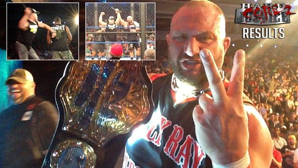 Bully Ray regains the World TItle, as Tito Ortiz turns on the Main Event Mafia. (Courtesty TNA Wrestling)