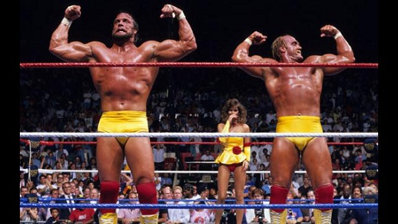 The Megapowers teamed up to face the Megabucks in 1988