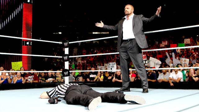 Guess who the special referee for Sunday's WWE Title match is?  HELL YEAH! (Courtesy WWE)
