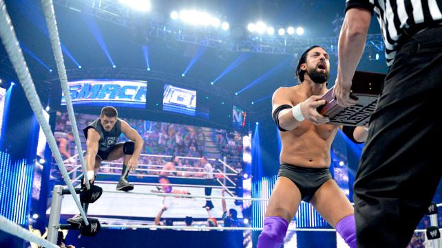 After Christian laid out Alberto Del Rio with the Killswitch, Damien Sandow tried to cash in his 'Money in the Bank' briefcase on the world champion only for his chances to be halted by Cody Rhodes. (Courtesy of WWE)