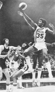 Roger Brown during the ABA days as an Indiana Pacer.