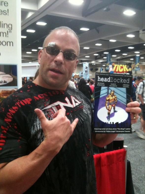 WWE superstar Rob Van Dam contributes a Kickstarter-exclusive Headlocked short story.