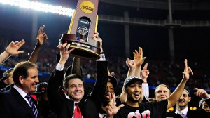 In 2013, Pitino became the only coach to win a national championship at two different schools.