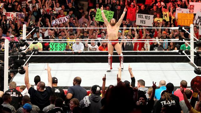 Once again, Daniel Bryan had a crowd in the palm of his hand. (Courtesy WWE)