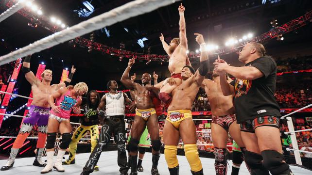 "The WWE roster finally stood up to ""The Regime"" and help Daniel Bryan. (Courtesy WWE)"