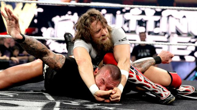 After Daniel Bryan tells Randy Orton what he's all about, he shows Orton how quickly he can make people tap out to the YES Lock.