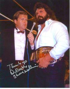 Jim Ross interviews UWF Heavyweight Champion Dr. Death Steve Williams.