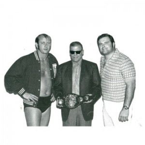 Dory Funk Jr., Leroy McGuirk, and Bill Watts.