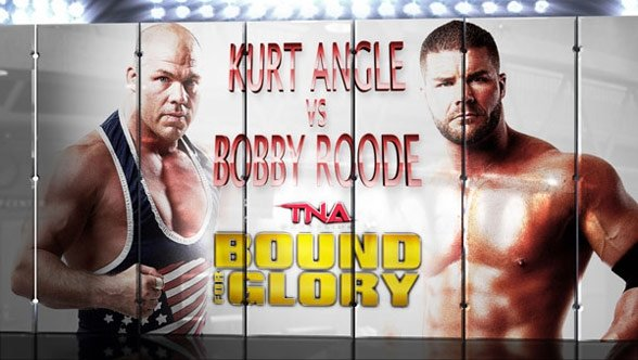 Kurt Angle returns at Bound for Glory to be honored and to fight. (Courtesy TNA Wrestling)