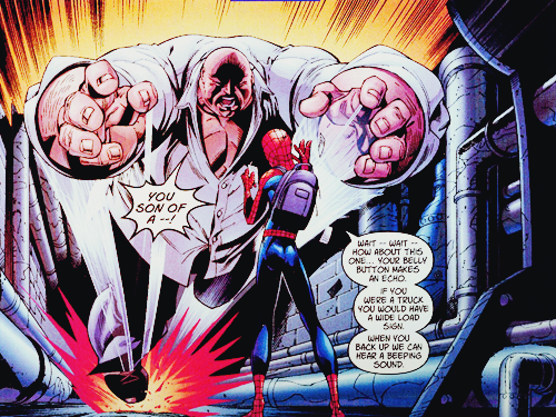 Spider-Man has been known to abuse his foes both physically and verbally.