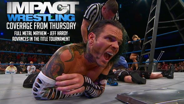 Jeff Hardy moves on in the World Title Tournament. (Courtesy TNA Wrestling)
