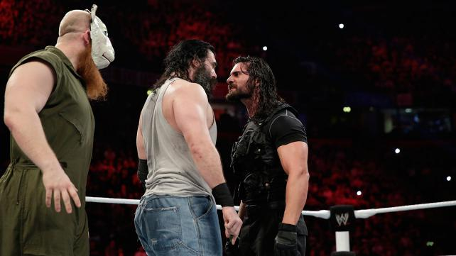 Two great heel factions came to blows. (Courtesy WWE)