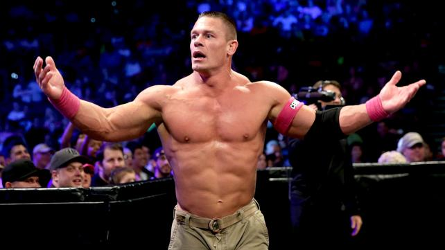 John Cena returns to Smackdown as the new World Heavyweight champion in a big six-man tag main event! [Photo Courtesy of WWE]