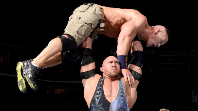 John Cena faces a monster of a challenge in Ryback. [Photo Courtesy of WWE]
