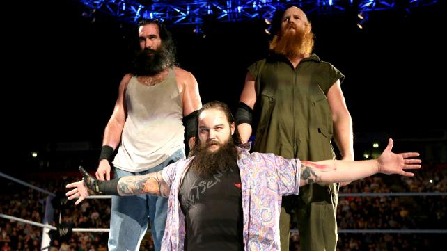 The Wyatt Family looking dominant as Smackdown invades Manchester.