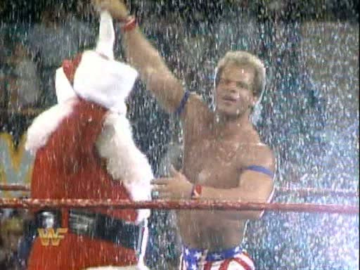 WWE-WWF_Survivor-Series-1993_Lex-Luger_with_Santa-Claus