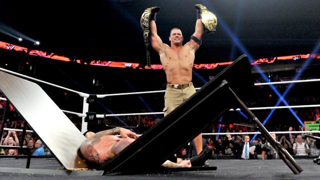 John Cena returned the favor from last week. (Courtesy WWE)