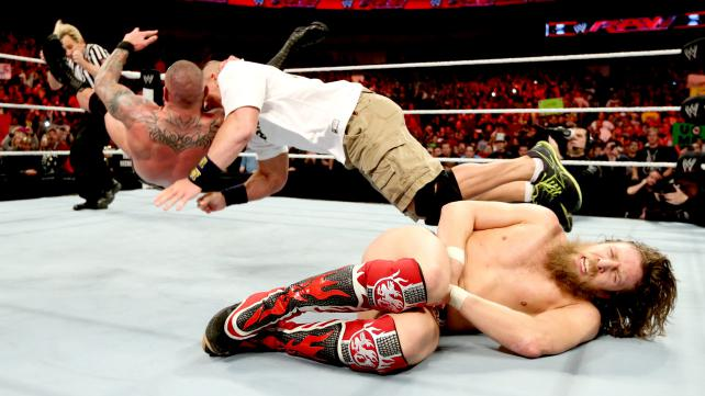 Randy Orton makes his point clear who's at the top of the food chain. (Courtesy WWE)
