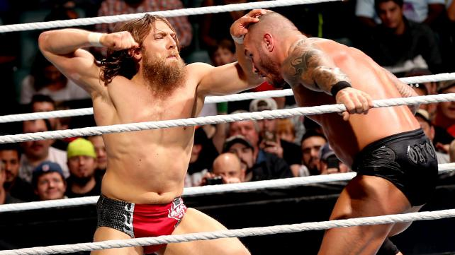 Looking to settle a score, Daniel Bryan battles WWE champion Randy Orton. Will Bryan definitively upset the face of WWE? Will the Wyatt Family get involved? Well, you'll just have to read and find out. [Photo courtesy of WWE.com]