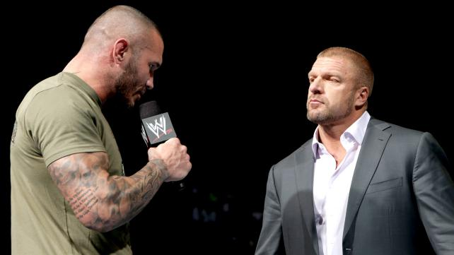 After tumbling into Stephanie McMahon last week on Raw, Randy Orton is forced to bow down to the King.