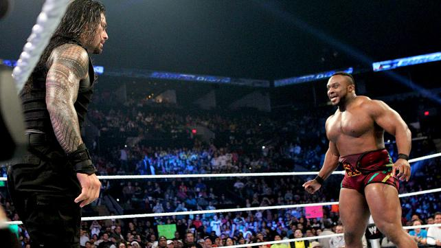 Big E Langston shows the Shield why he is a force to be reckoned with on the Christmas edition of Smackdown.