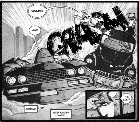 This is a small taste of the fun in Dust Bunny. Brett Brooks really has something with this one!