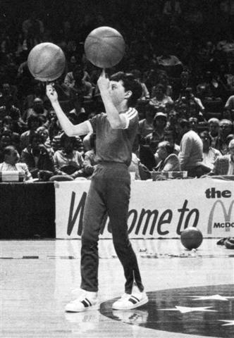 Sean Miller shows his amazing ball skills as a boy in a halftime performance for the McDonald's All-American Game.