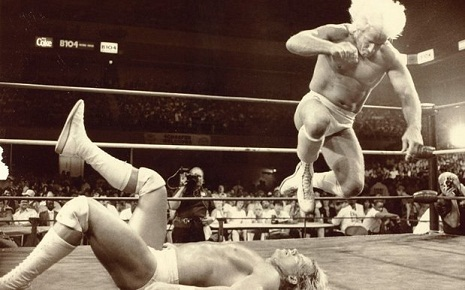 Ric Flair and Lex Luger in 1988