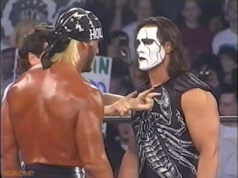 Hogan and Sting in 1997
