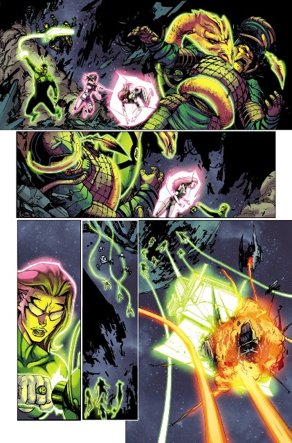 Exclusive preview page of Green Lanterns Corps #27! Art by Bernard Chang.