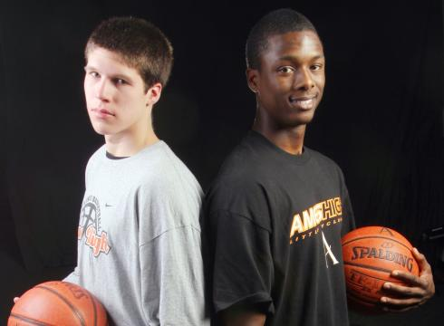 Doug McDermott and his teammate Harrison Barnes at Ames High School. Barnes was the top recruit in the country while McDermott went largely unnoticed.