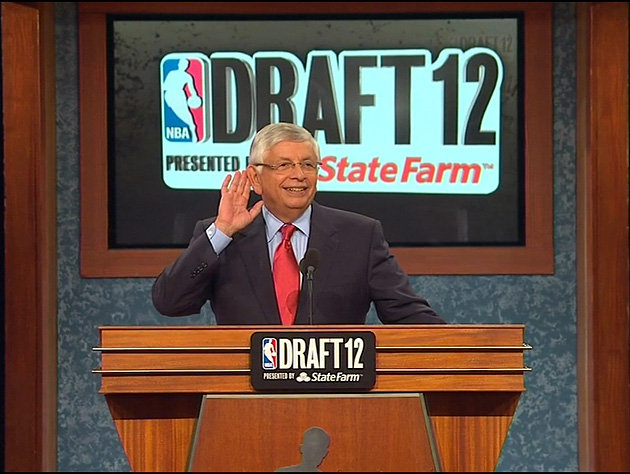Stern eggs on the crowd as he announces the 2012 NBA Draft. Along with much individual success came the burden of criticisms for Stern.