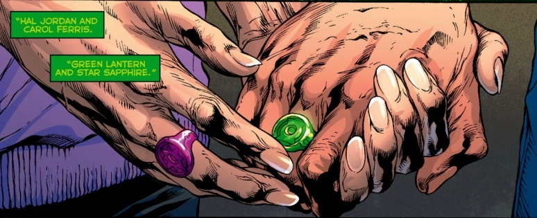 A touching panel from Green Lantern #20 (2013)