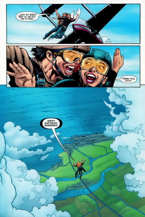 The last scene of Nightwing's pre-New 52 solo title.