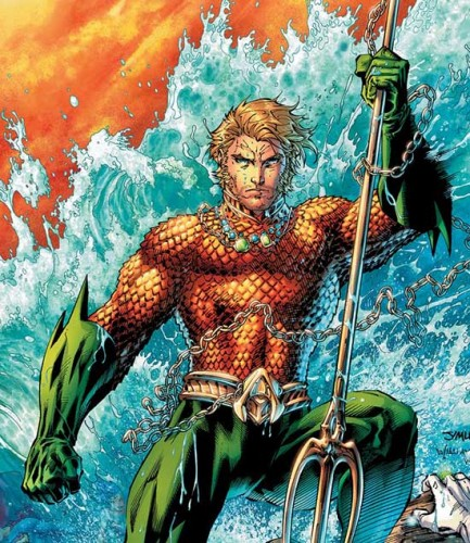 """Oh yeah, Aquaman,  the dude that talks to the fish he'll whip that little candy ass just like that."""