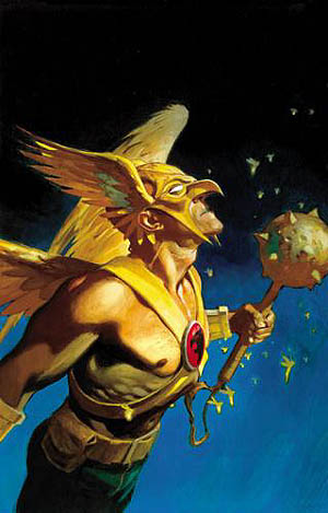 """Let me tell you what Hawkman is gonna do. He's gonna take this Nth metal mace, shine it up real nice, turn that sumbitch sideways and stick it straight up your candy ass!"""