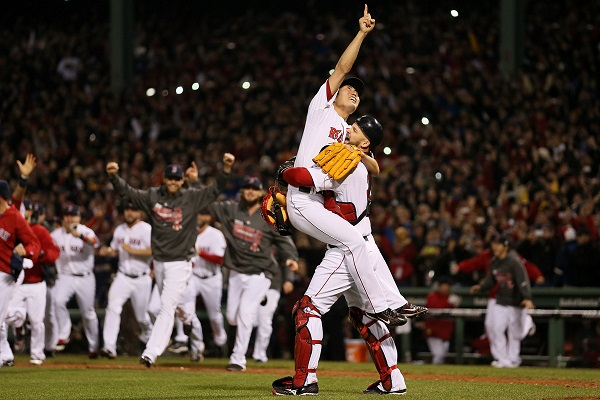 The Red Sox have a bulls-eye on their backs after winning the World Series last year.