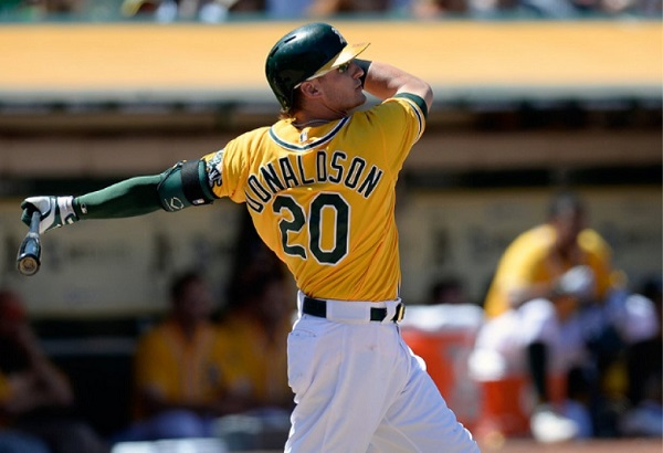 osh Donaldson aims to keep the A's swinging all year long.