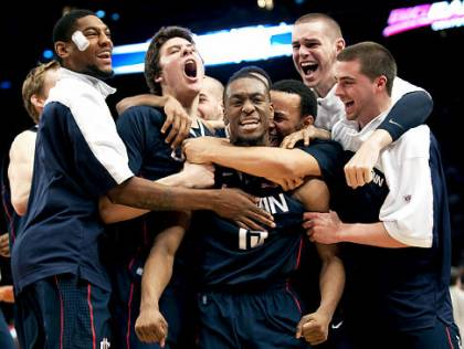 Finishing in the middle of the pack in the Big East did not bother Kemba Walker's UConn Huskies one bit in 2011. They won the national title anyway.