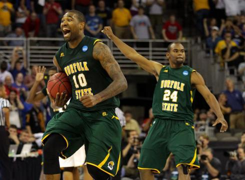 After dominating the paint, Kyle O'Quinn dances on after Norfolk State stuns 2 seed Missouri in 2012.