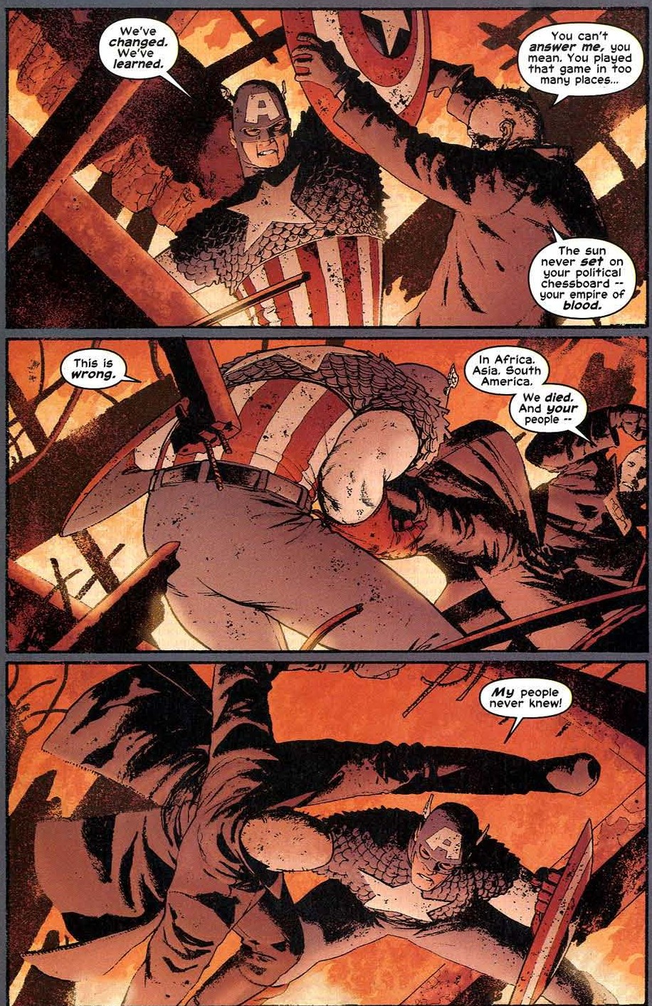 Captain America, Paragon of Virtue and of Turning the Other Cheek
