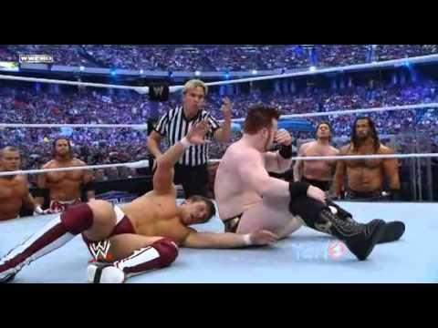 WrestleMania Battle Royal Bryan-Sheamus Lumberjack
