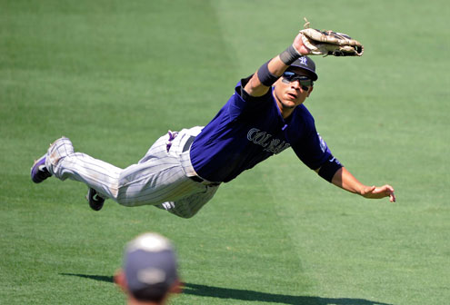 With his strong offense and defense in left field, Carlos Gonzalez is one of the best in baseball.