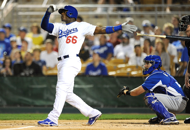 The Dodgers are hoping for a lot of power from Yasiel Puig in 2014