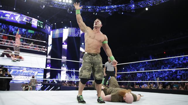 John Cena challenges anybody from the Wyatt family, but does he get more than he can handle when Erick Rowan obeys his master's call? [Photo courtesy of WWE.com]