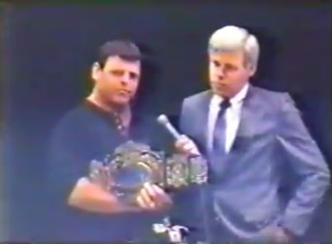 Jerry Lawler with Dave Brown on May 19, 1990